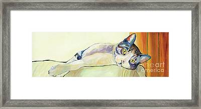 The Sunbather Framed Print by Pat Saunders-White