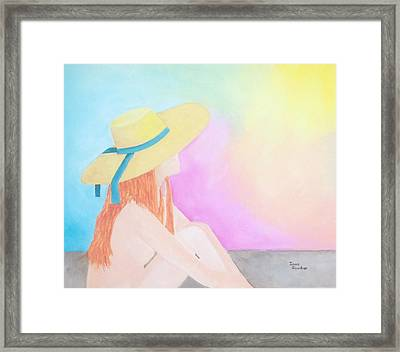 The Sunbathing Framed Print