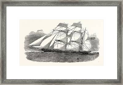The Sunderland Clipper Barque Flying Dragon 1854 Framed Print by English School