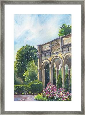 The Sundial Framed Print by Susan Herbst