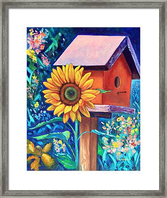 The Sunflower Suite Framed Print by Eve  Wheeler