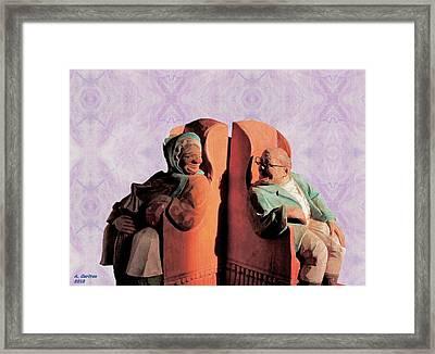 The Sunny Couple Framed Print by Aliceann Carlton