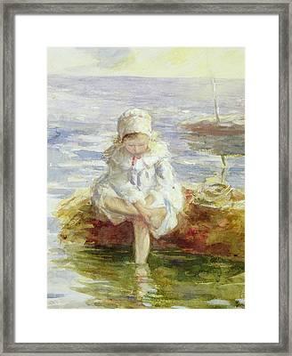 The Sunny Sea Framed Print