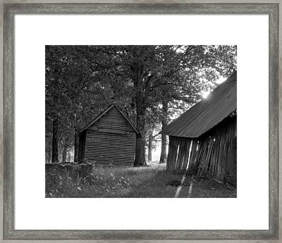 The Sunrise In Black And White Framed Print by Amber Kresge