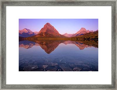 The Sunrise On Mount Grinnell As Seen Framed Print