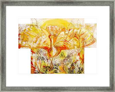 The Sun's Bird Framed Print by Otilia Gruneantu Scriuba