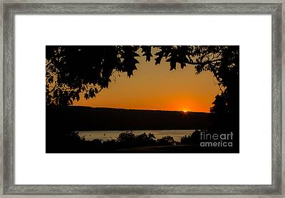 The Sun's Last Wink Framed Print
