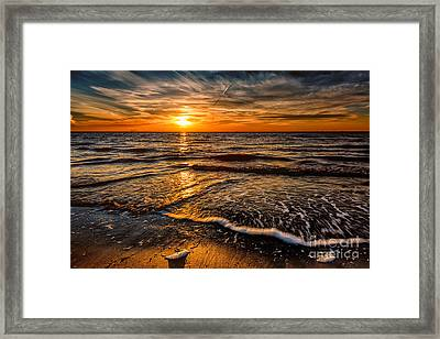 The Sunset Framed Print by Adrian Evans
