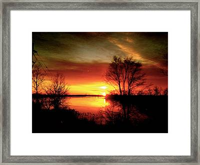 The Sunset Amherstburg On Framed Print by Pretchill Smith