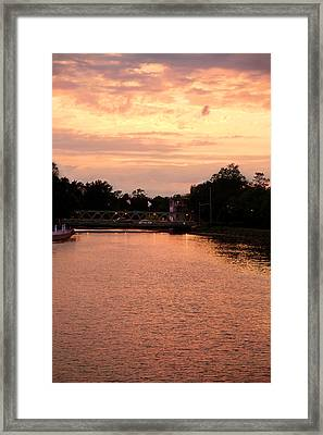 Framed Print featuring the photograph The Sunset by Courtney Webster