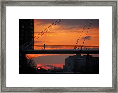 The Sunset Jogger Framed Print