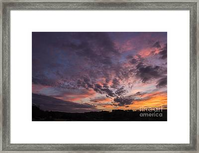 The Sunsets Glow Framed Print by Michael Waters