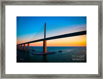The Sunshine Under The Sunshine Skyway Bridge Framed Print