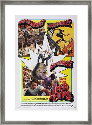 The Super Cops, Poster Art, 1974 Framed Print