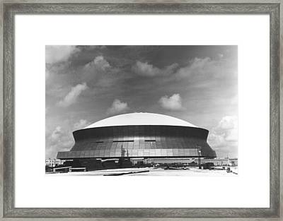 The Superdome Framed Print by Underwood Archives