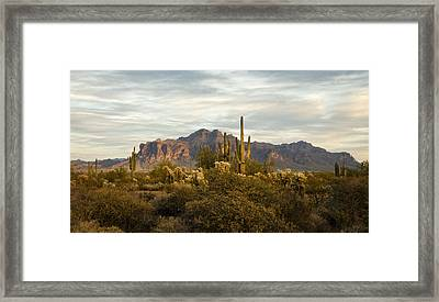 The Superstition Mountains Framed Print