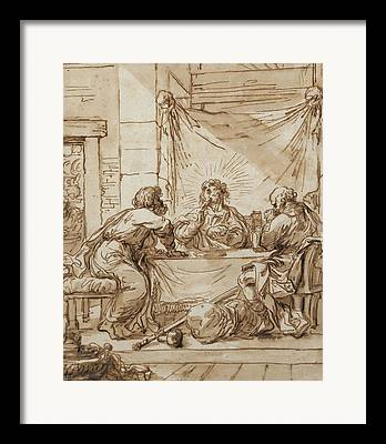 Italian Meal Drawings Framed Prints