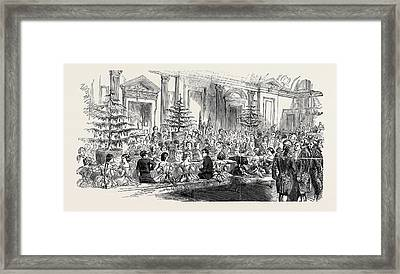 The Supper Room, New Years Eve Framed Print by English School