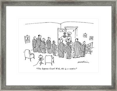 The Supreme Court! Well Framed Print by Michael Maslin