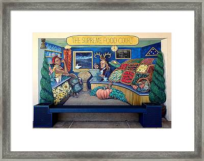 The Supreme Food Court Framed Print
