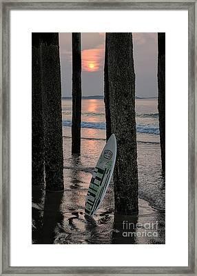 The Surf Awaits Framed Print