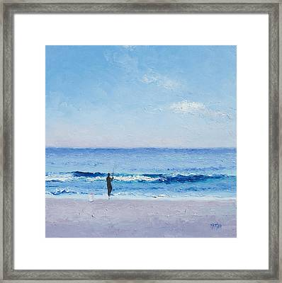 The Surf Fisherman Framed Print