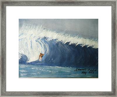 The Surfing Framed Print by Fladelita Messerli-