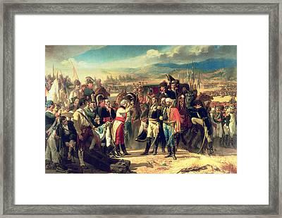 The Surrender Of Bailen Framed Print