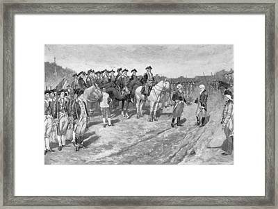 The Surrender Of Cornwallis At Yorktown, Illustration From The Surrender Of Cornwallis, Pub Framed Print by Howard Pyle