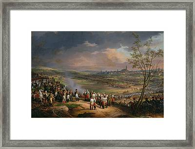 The Surrender Of Ulm, 20th October 1805, 1815 Oil On Canvas Framed Print by Charles Thevenin