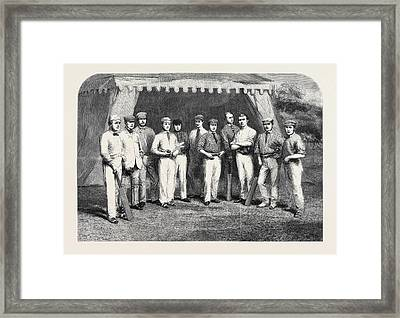 The Surrey Eleven W. Mortlock T. Lockyer H.h. Stephenson W Framed Print by English School