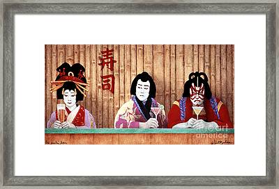 The Sushi Bar... Framed Print by Will Bullas