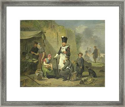 The Sutler, Anthonie Constantijn Govaerts Framed Print by Litz Collection