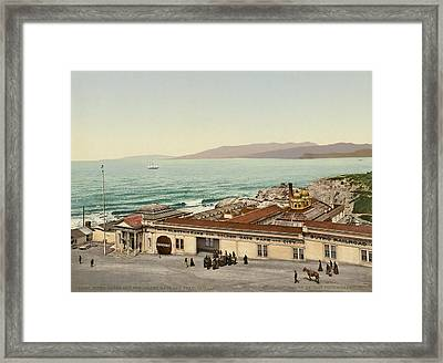 The Sutro Baths In Sf Framed Print by Underwood Archives