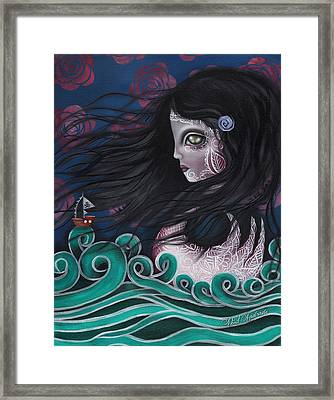 The Swan Framed Print by  Abril Andrade Griffith