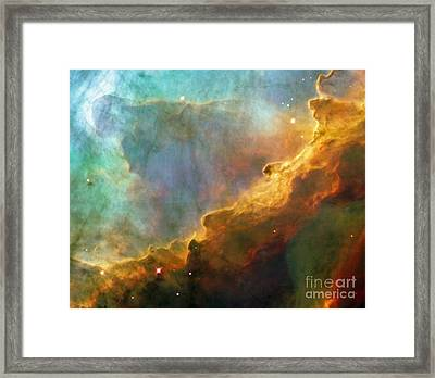 The Swan Nebula Framed Print by Rod Jones