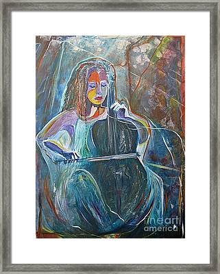 Framed Print featuring the painting The Swan Of Saint-sanz by Diana Bursztein