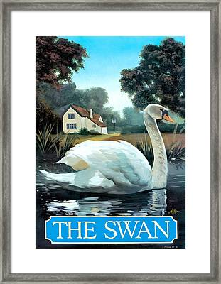 The Swan Framed Print by Peter Green