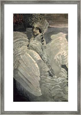 The Swan Princess, 1900 Framed Print by Mikhail Aleksandrovich Vrubel