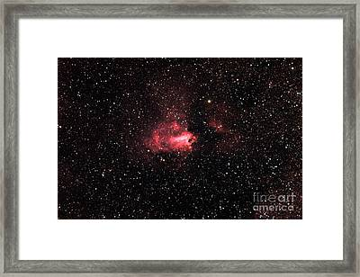 The Swanomega Nebula Framed Print