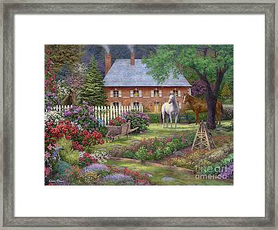 The Sweet Garden Framed Print