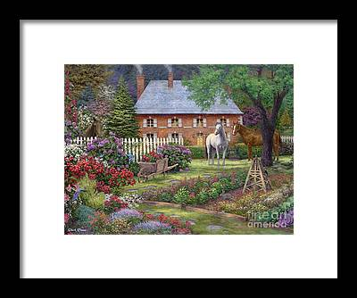 Picket Fence Framed Prints