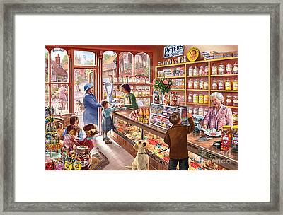 The Sweetshop Framed Print