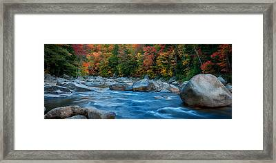 The Swift River Of New Hampshire-an Autumn Grand Landscape Framed Print by Expressive Landscapes Nature Photography