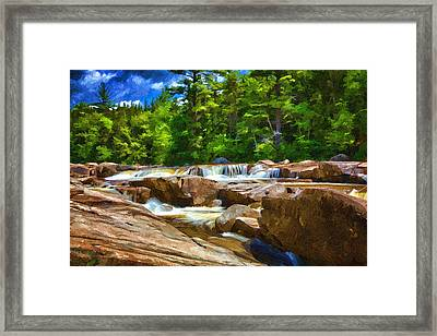 The Swift River Beside The Kancamagus Scenic Byway In New Hampshire Framed Print