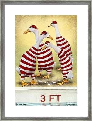The Swim Team... Framed Print by Will Bullas