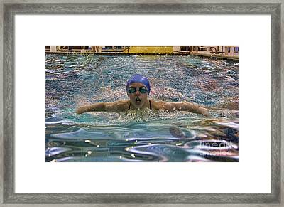 Framed Print featuring the photograph The Swimmer by Lee Dos Santos