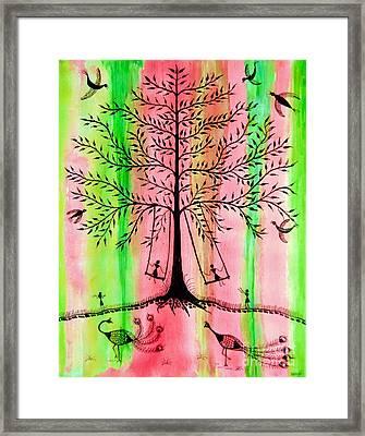 The Swing Framed Print by Anjali Vaidya