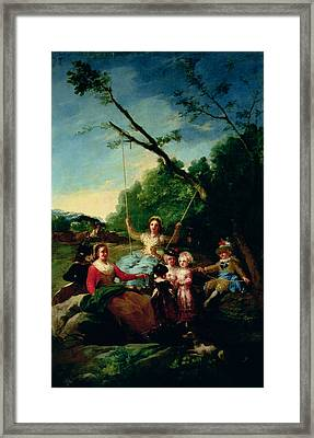 The Swing Framed Print by Francisco Jose de Goya y Lucientes