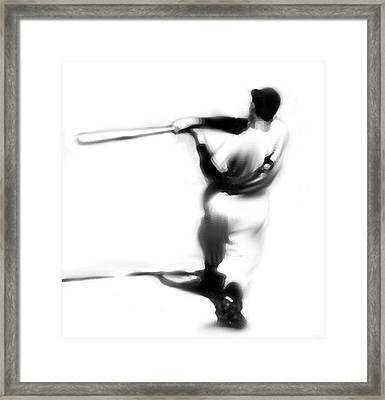 The Swing   Joe Dimaggio Framed Print by Iconic Images Art Gallery David Pucciarelli